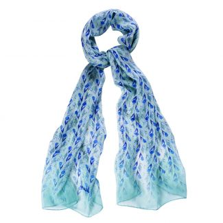 Silk shawl About Summer blue