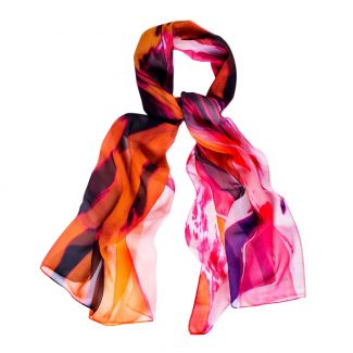 Silk shawl Amalfi orange