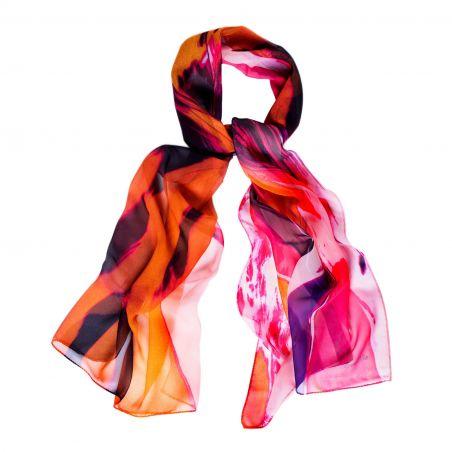 Silk shawl Amalfi orange