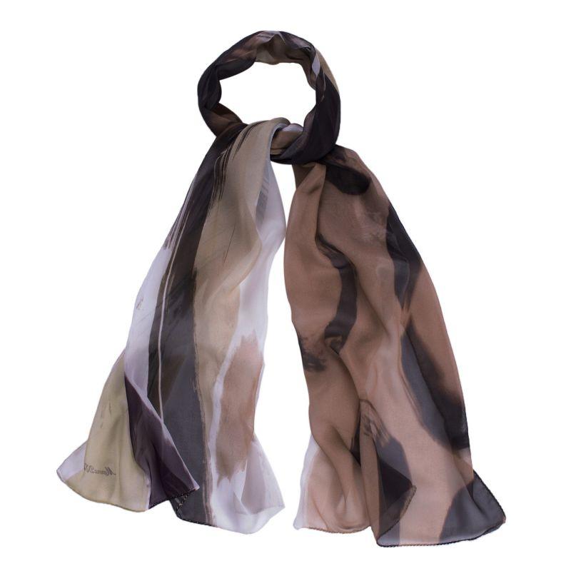 Silk shawl Amalfi caffe au lait