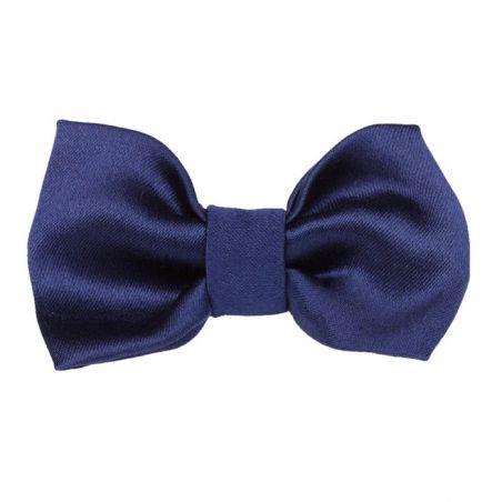 Navy-blue bow clip