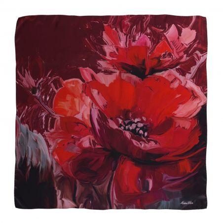 Sweet Touch burgundy silk scarf