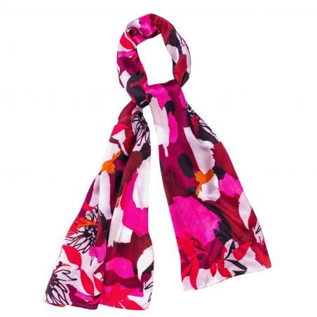 Silk shawl Easy to fit red