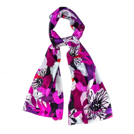 Silk shawl Easy to fit fucsia