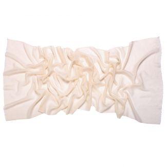 Esarfa lana si casmir Marina D'Este ivory cream
