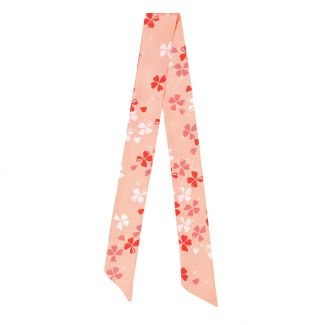 Twilly Silk Scarf Pretty Lucky Coral