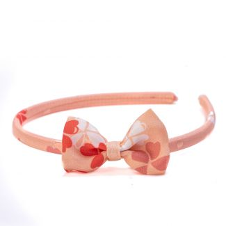 Headband cu fundita Pretty Lucky coral