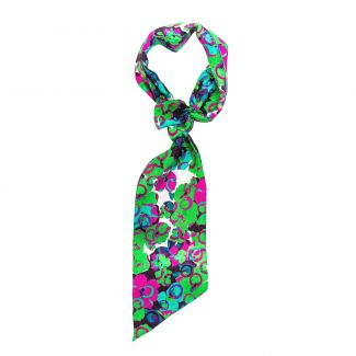 Flounce Scarf It's Raining Flowers green