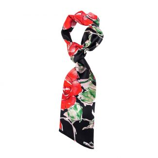 Flounce Scarf 99 Red Roses