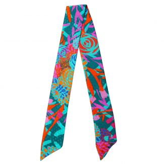 Twilly Silk Scarf Chanson Coloniale