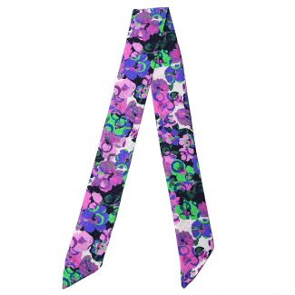 Twilly Silk Scarf It's Raining Flowers lila