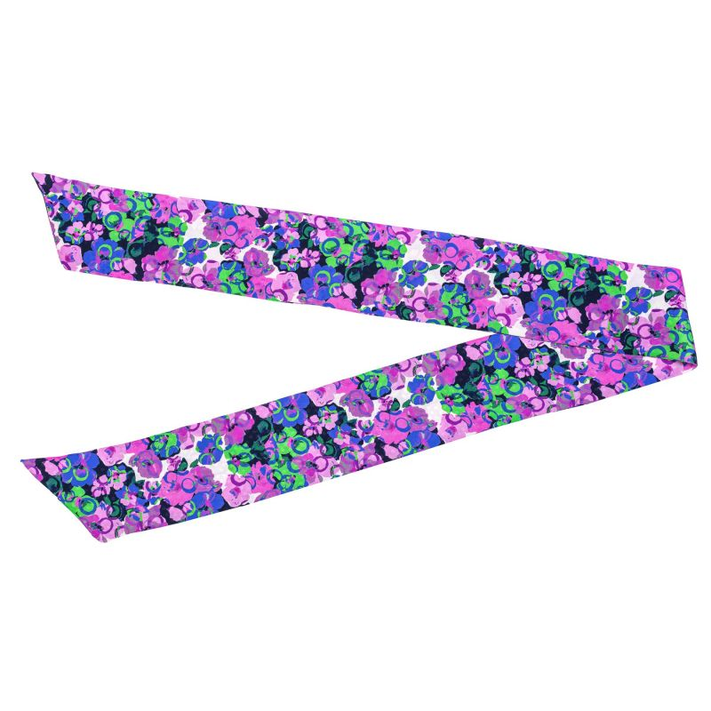 Silk Scarf It's Raining Flowers lila