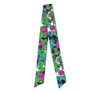 Twilly Silk Scarf It's Raining Flowers green