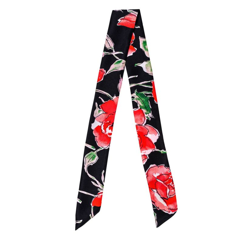 Twilly Silk Scarf 99 Red Roses
