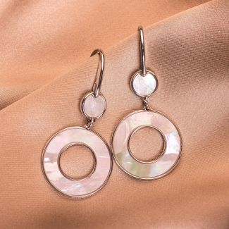 Sterling Silver Earrings Prestige white