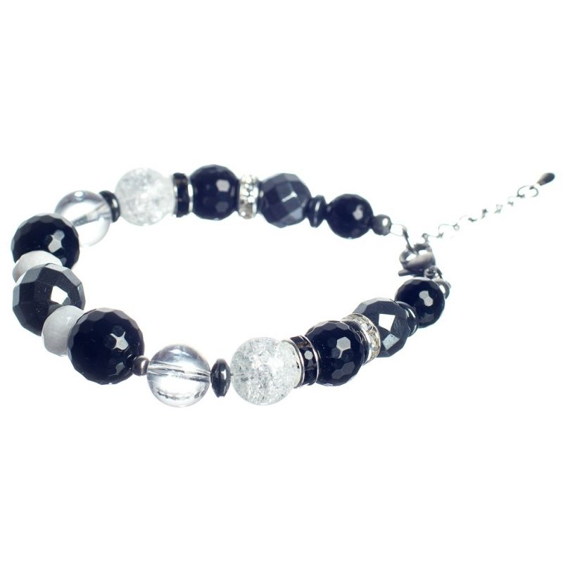 Onix and Ice Crystal Luxury Bracelet
