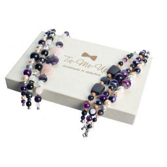 Onix and Ice Crystal Luxury Bracelet