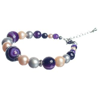 Purple Lace Agates Luxury Bracelet