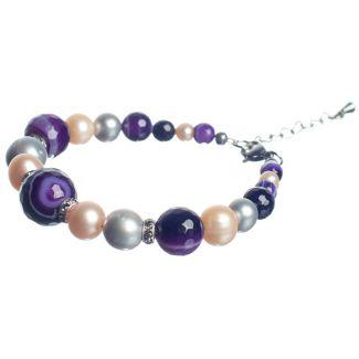 Purple Lace Agates Luxury Bracelet