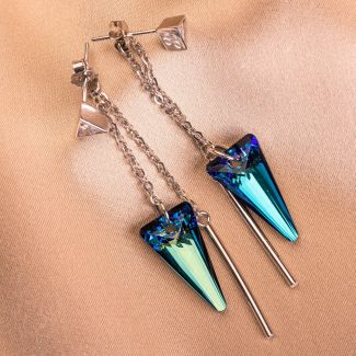 Swarovski  Bermuda Blue silver earrings