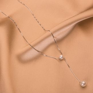 Colier argint perle de cultura Delicate