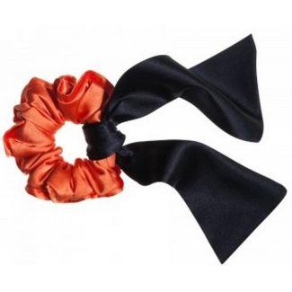 Hair twist portocaliu şi eşarfă neagră