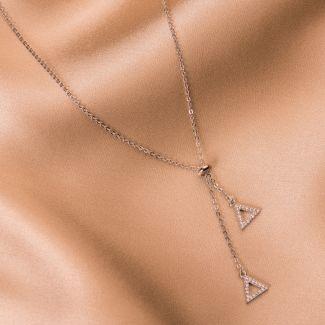 Silver necklace Essences