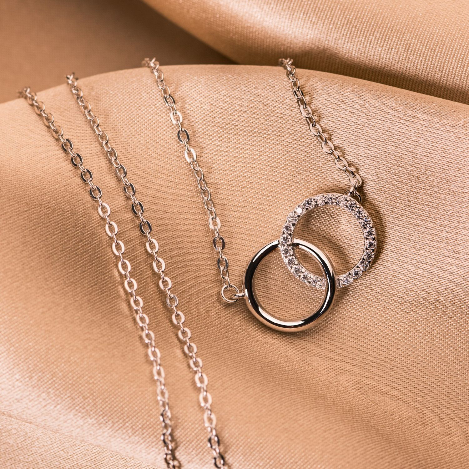 Silver necklace Until the Moon & Back