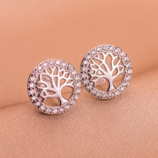 Sterling Silver Earrings Tree of Life