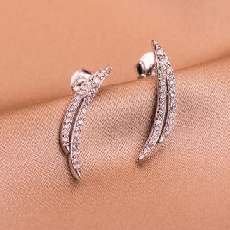 Sterling Silver Earrings Grace Wings