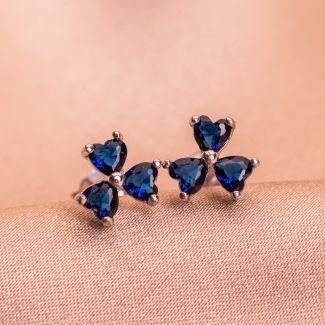 Cercei argint Tres Jolie blue