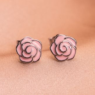 Sterling Silver Earrings Delicate Roses