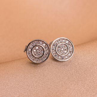 Sterling Silver Earrings Touch& Glow zirconia