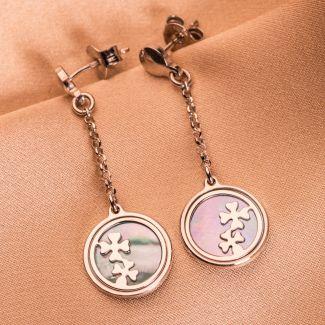 Sterling Silver Earrings Lucky Clovers