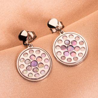 Cercei argint Lilac Touch