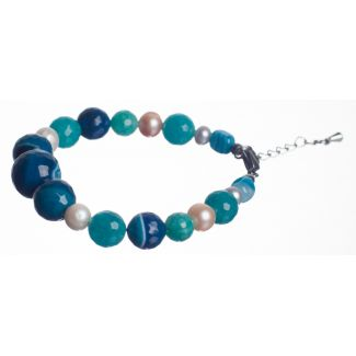Blue and Turquoise Agates Luxury Bracelet