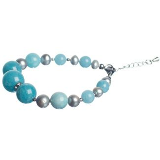 Pearls and Angelite Luxury Bracelet