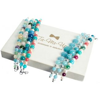 Pearls and Angelite Luxury Bracelet