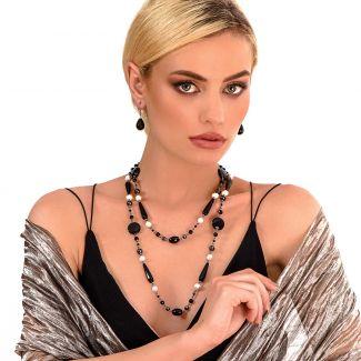 Sterling Silver Earrings onix zirconia elegant