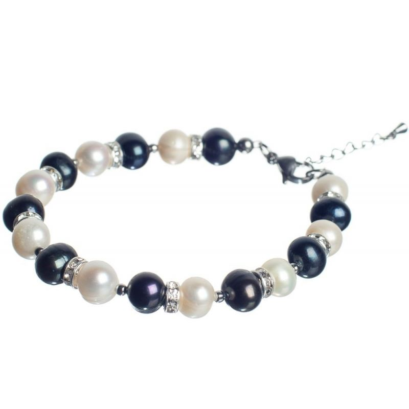 Black and White Pearls Luxrury Bracelet