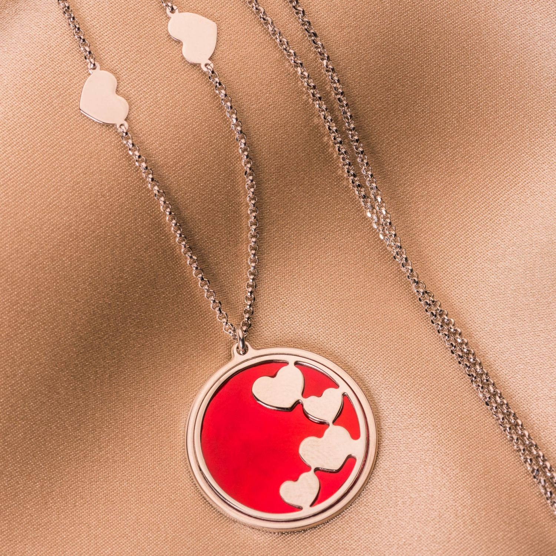 Colier argint Heart To Heart