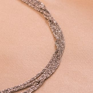 Sterling Silver Necklace Sparkling Party