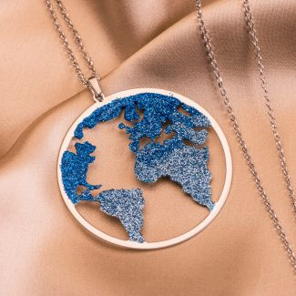Sterling Silver Necklace Beauty Of The World