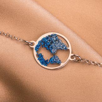 Sterling Silver Bracelet Beauty Of The World