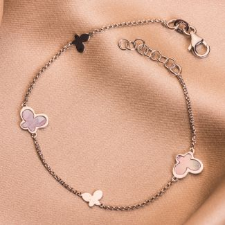 Sterling Silver Bracelet Delicate Dance