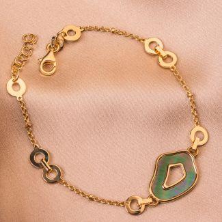 Sterling Silver Bracelet Confidence gold