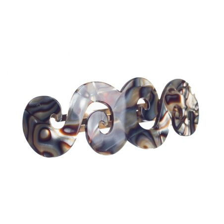 ONYX Grey Shell Arabic Barrette