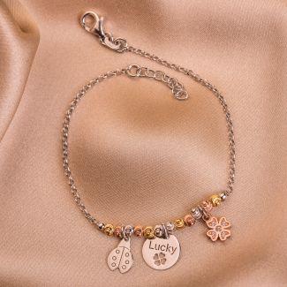 Sterling Silver Bracelet Lucky Charms