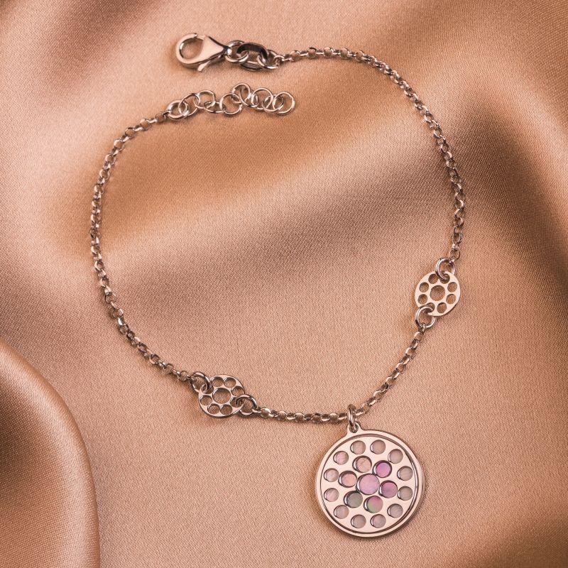 Bratara argint cercuri Lilac Touch