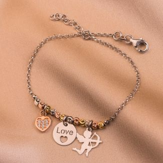 Sterling Silver Bracelet Love charm